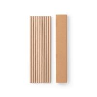 Juego de 10 pajitas de papel kraft LAMONE apropiado para comida - Ref. P94098