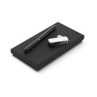 Set de bolígrafo y memoria USB, 4GB Thales escritura negra - Ref. P97334