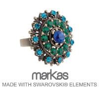ANILLO AJUSTABLE NOLTON MARKAS SWAROVSKI - Ref. M7195