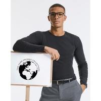 Camiseta orgánica Pure manga larga hombre - Ref. F12200