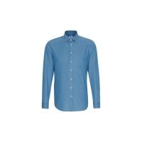 Camisa Denim ajustada cuello inglés Business - Ref. F73320