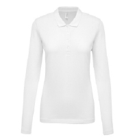 Polo Pique M/Larga Mujer White - Ref. CK257W