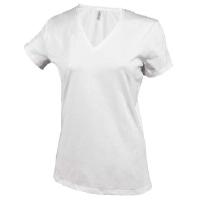Camiseta Mujer manga corta Cuello Pico White - Ref. CK381W