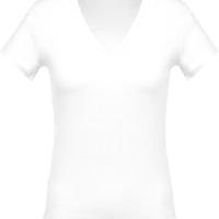 Camiseta Cuello Pico Mujer Blanca - Ref. CK390W