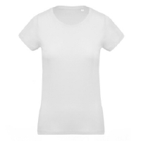 Camiseta Organica Cuello Redondo Mujer White - Ref. CK391W