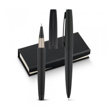 Set de roller y bolígrafo BENTON escritura negra - Ref. P91842