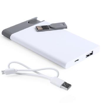 POWER BANK USB 2500 MAH. 8GB. CABLE INCLUIDO SPENCER - Ref. M5242